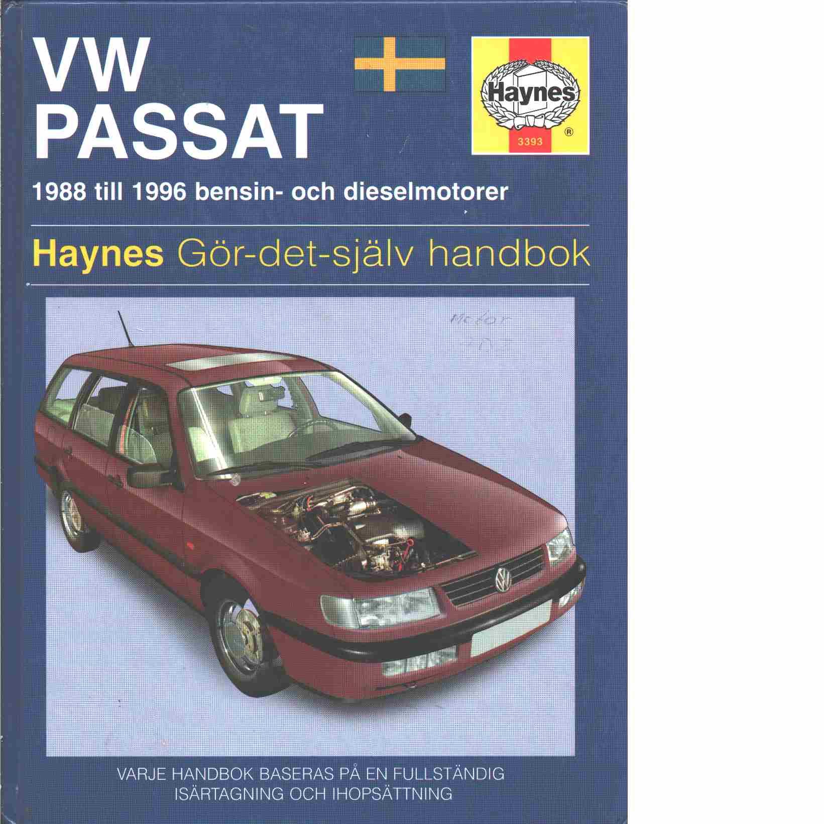 VW Passat : [1988 till 1996 bensin- och dieselmotorer] - Jex, R. M.  och Coomber, I. M.