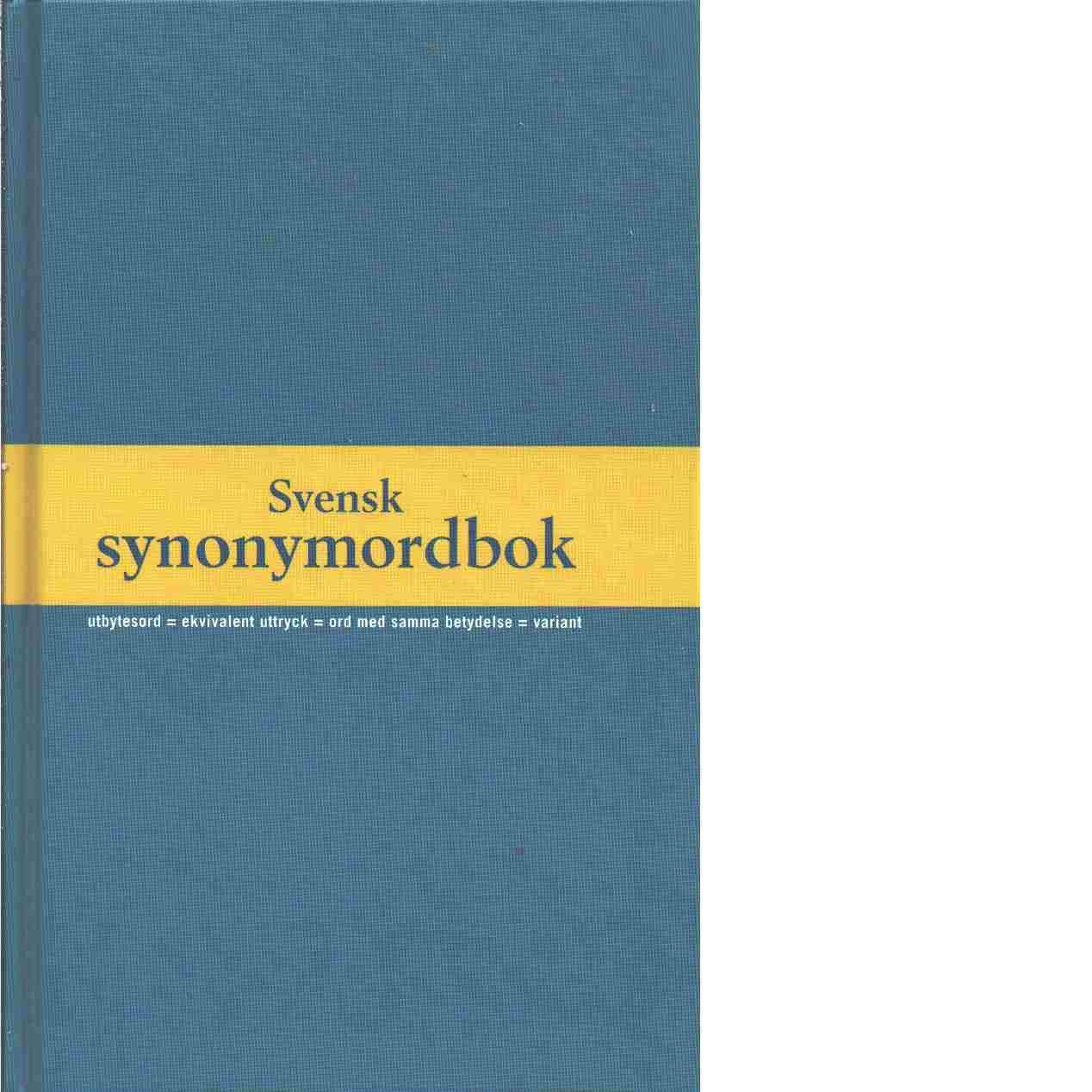 Svensk synonymordbok - Swedenborg, Lillemor