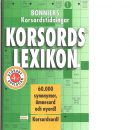 Bonniers korsordstidningars korsordslexikon : över 60000 synonymer och ämnesord - Holm, Ninni