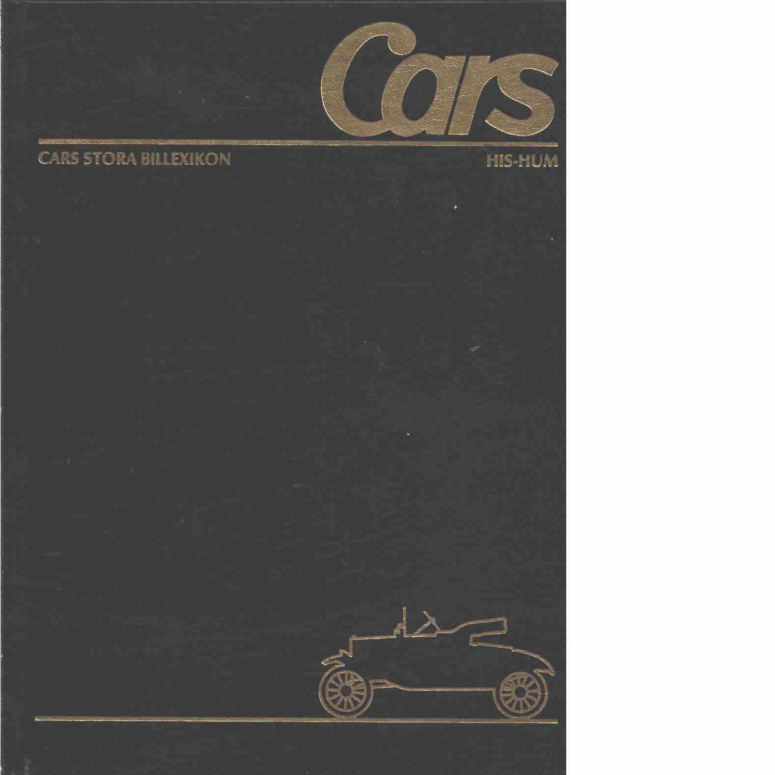 Cars stora billexikon. 16, Hispano-Suiza-Humber - Red.