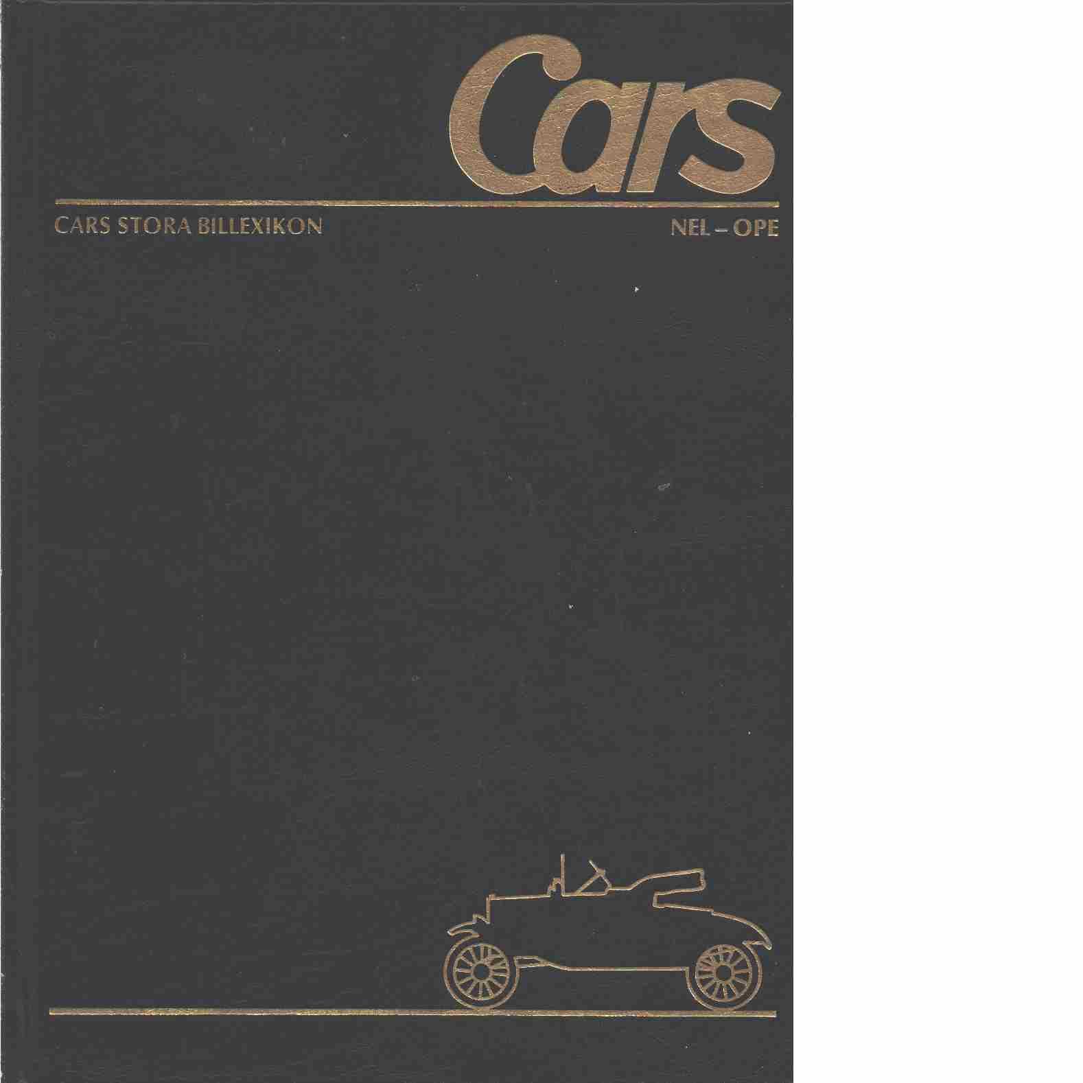 Cars stora billexikon. 26, Nelson-Opel  - Red.