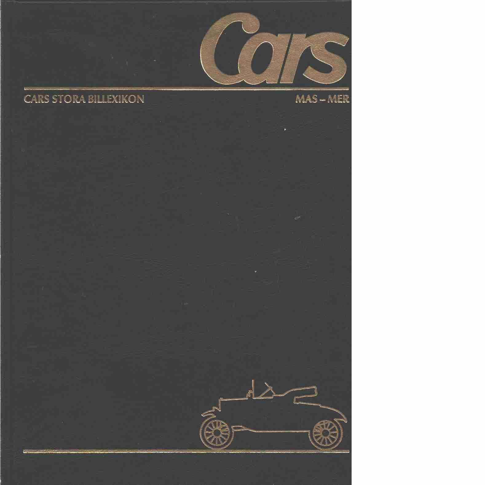 Cars stora billexikon. 22, Maserati-Meray - Red.