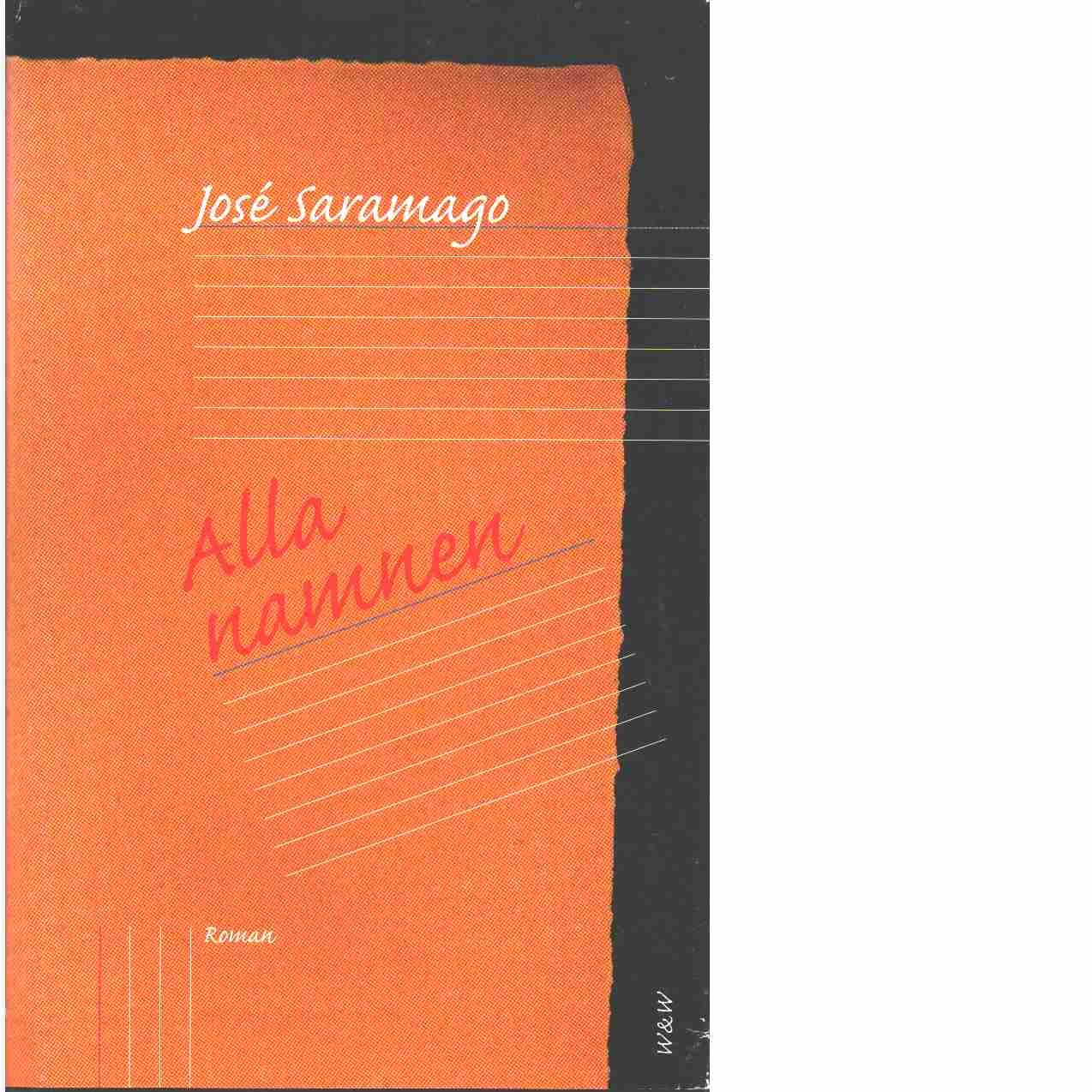 Alla namnen  - Saramago, José