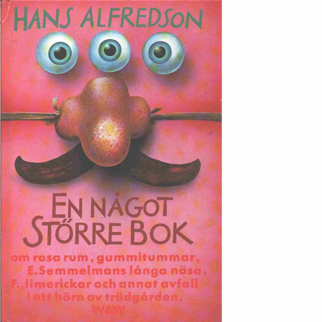 En något större bok - Alfredson, Hans
