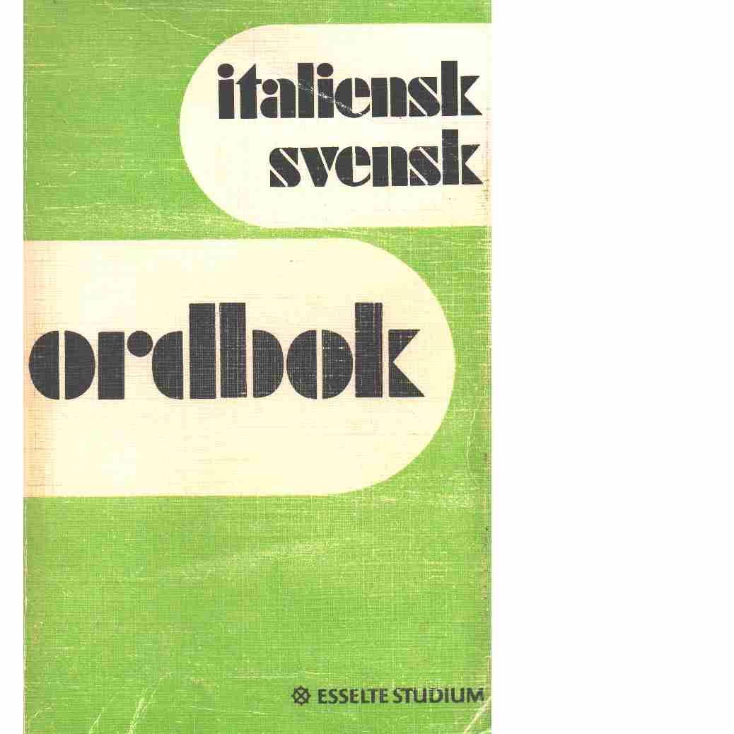 Italiensk svensk ordbok.  - Red.