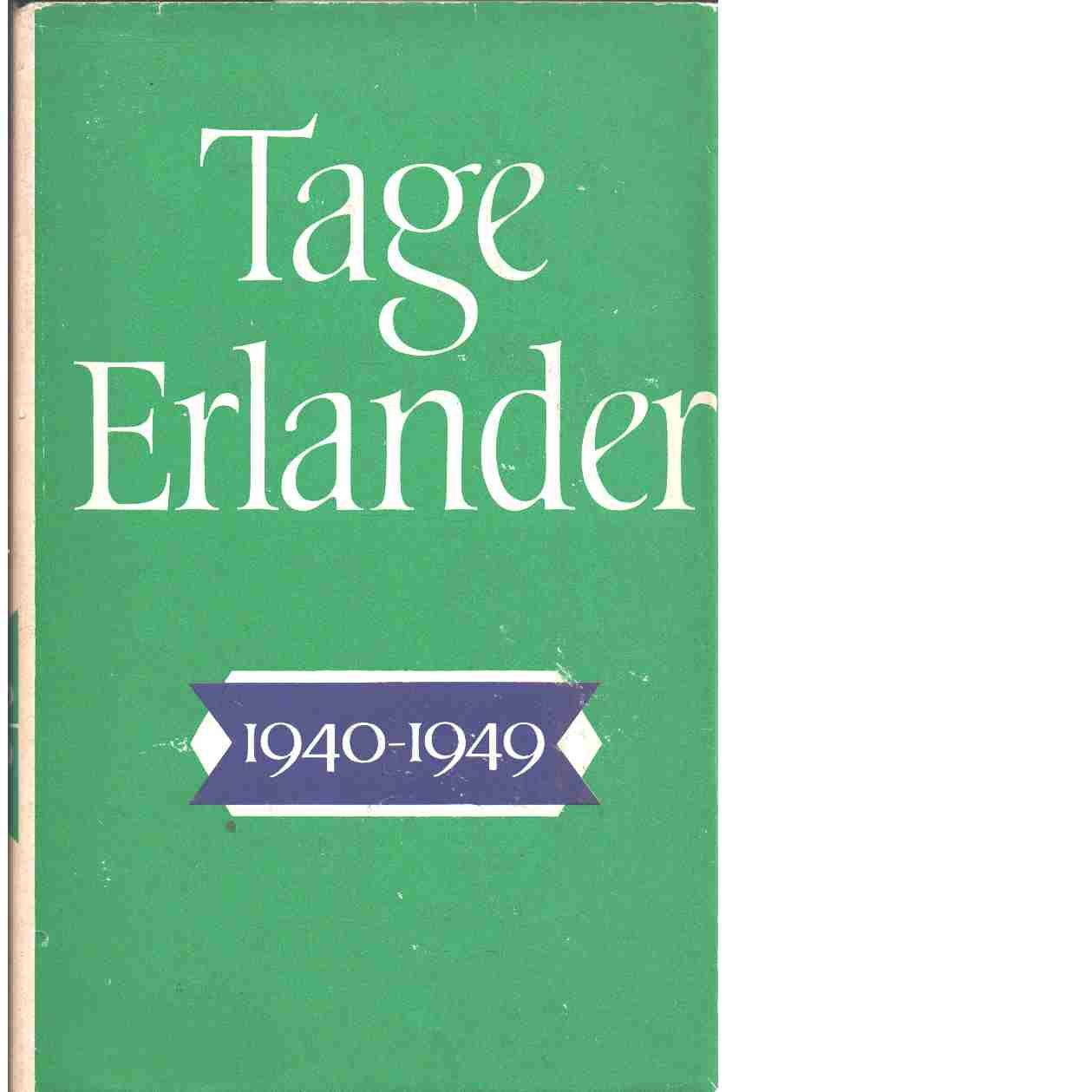 Tage Erlander. 1940-1949  - Erlander, Tage