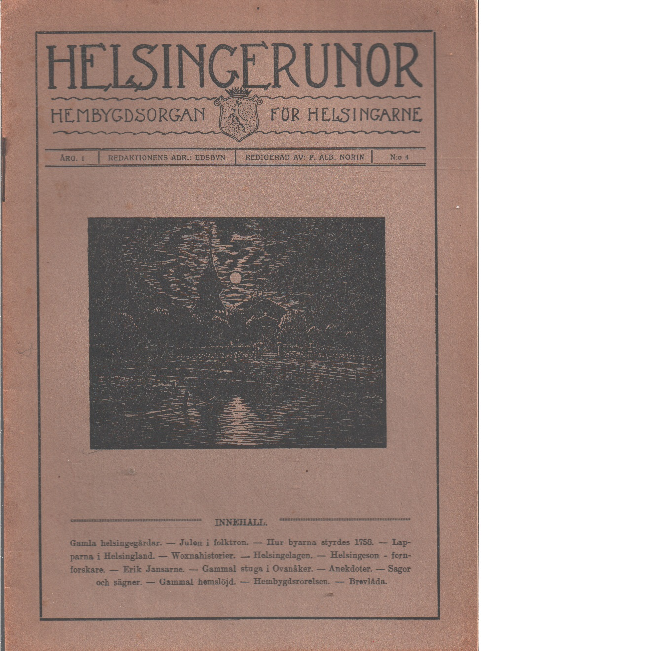 Helsingerunor 1921 nr 4 - Red.