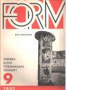 Form : Svenska slöjdföreningens tidskrift Nr 9 1937 - Red.