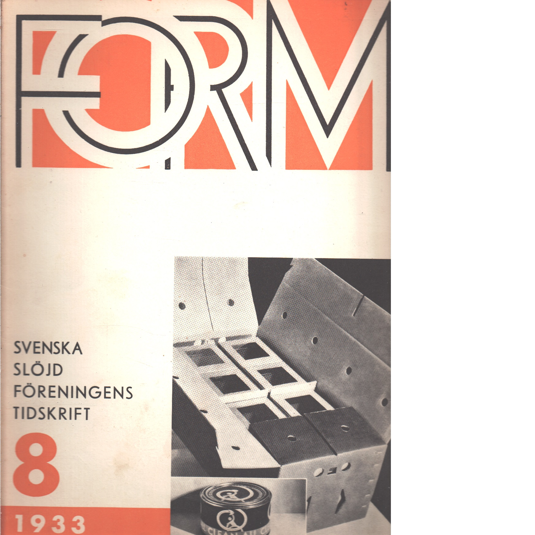 Form : Svenska slöjdföreningens tidskrift Nr 8 1933 - Red.