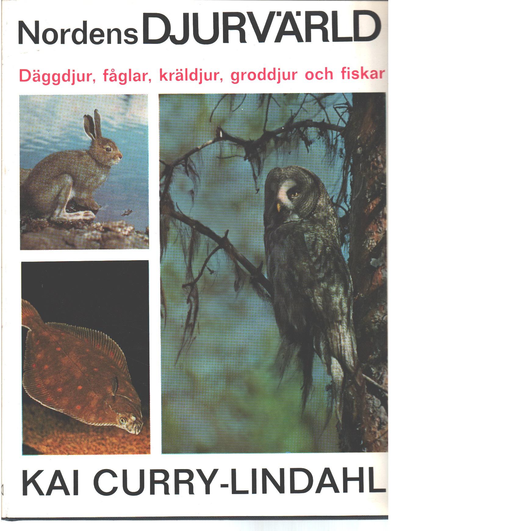 Nordens djurvärld : däggdjur, fåglar, kräldjur, groddjur, fiskar - Curry-Lindahl, Kai