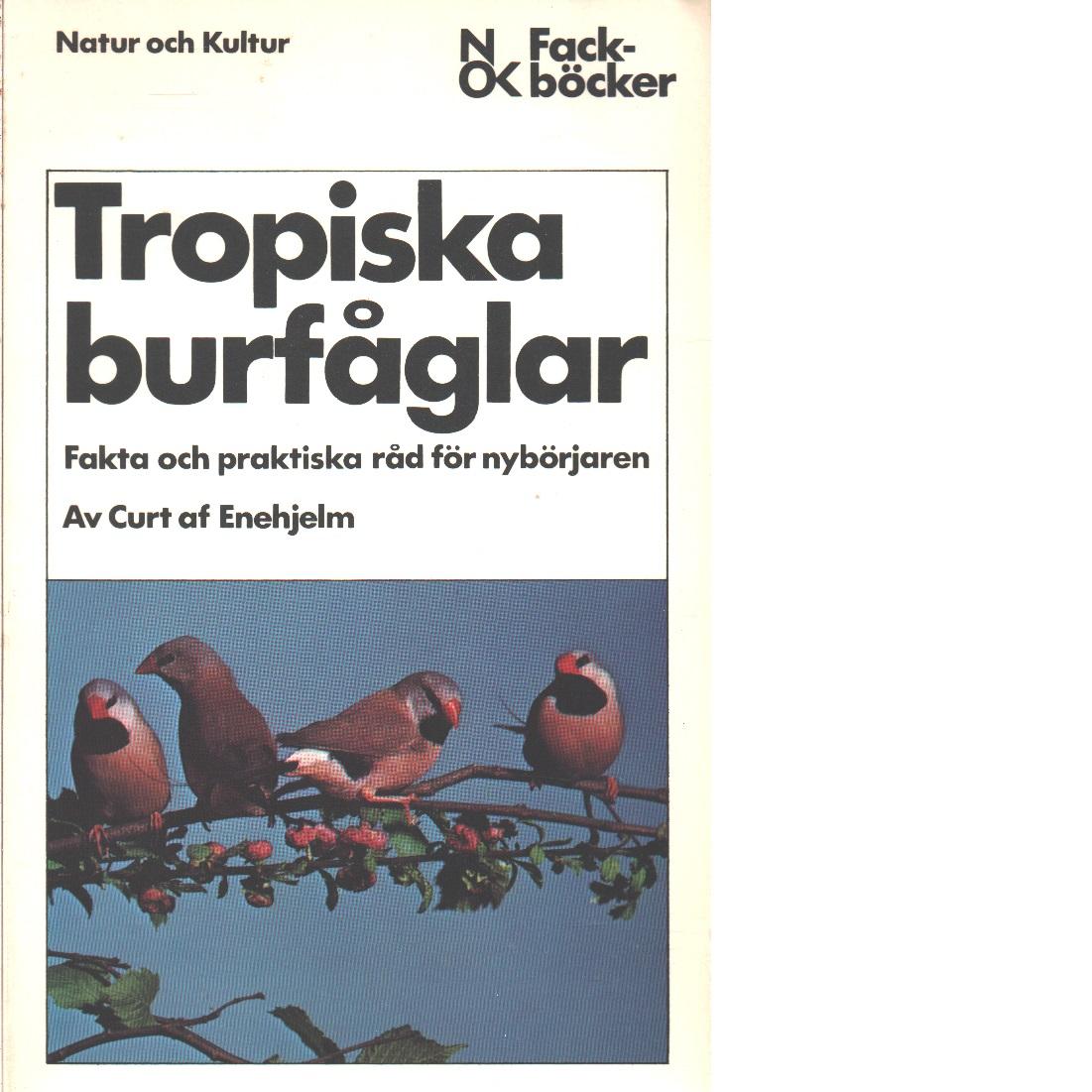 Tropiska burfåglar : fakta och praktiska råd för nybörjaren - Enehjelm, Curt af