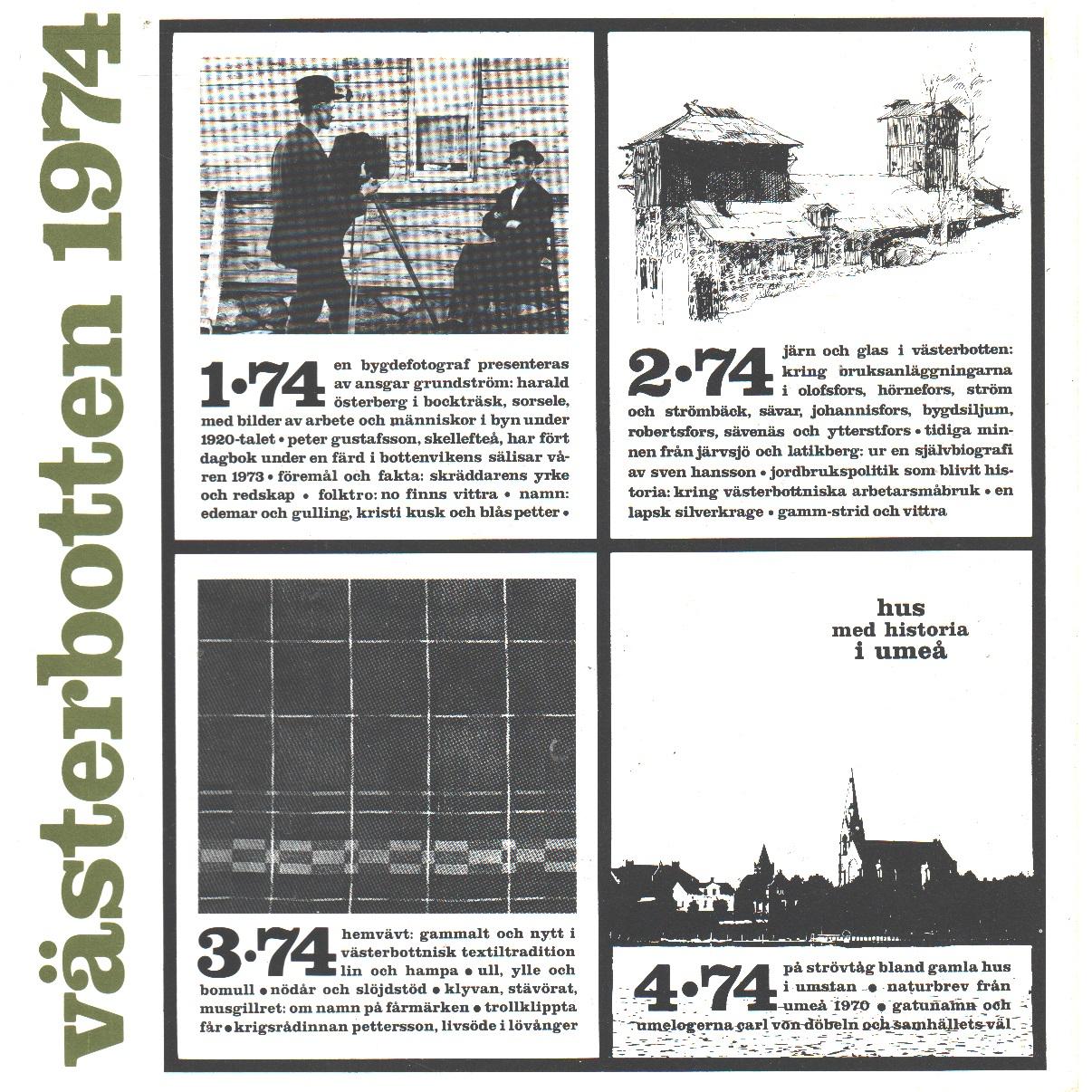 Västerbotten : Västerbottens läns hembygdsförenings årsbok 1974 - Red.