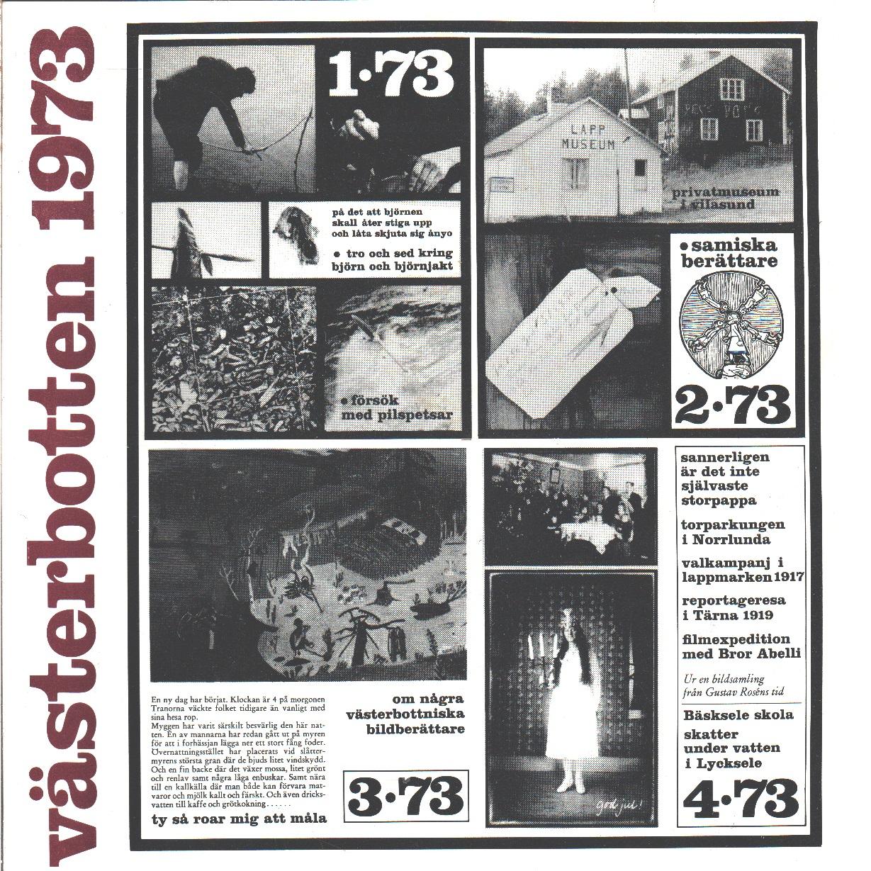 Västerbotten : Västerbottens läns hembygdsförenings årsbok 1973 - Red.