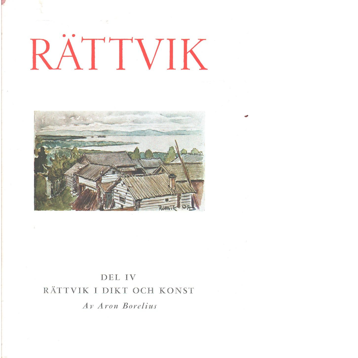 Rättvik. 4, Rättvik i dikt och konst  - Borelius, Aron