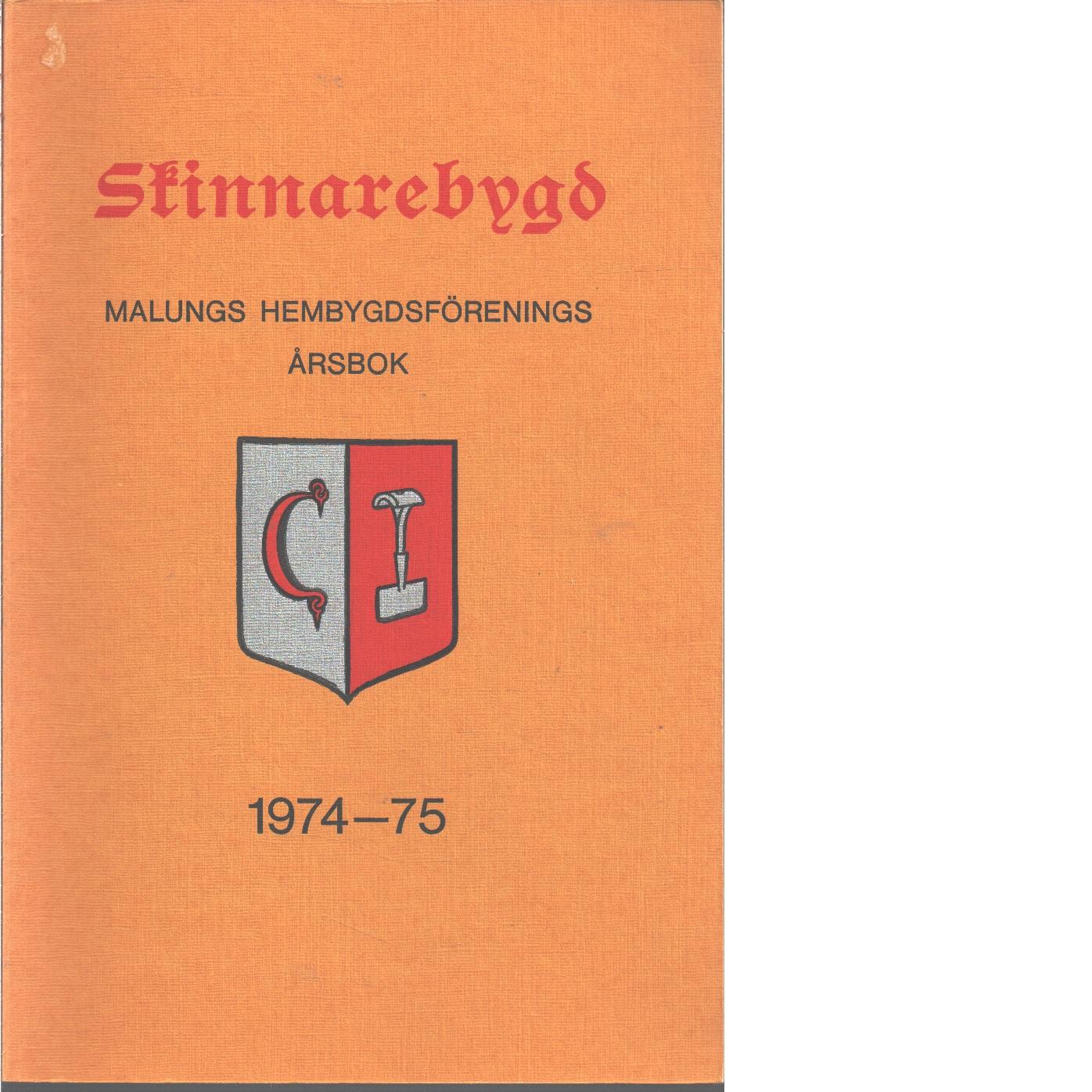 Skinnarebygd : Malungs hembygdsförenings årsbok  1975 - Red.