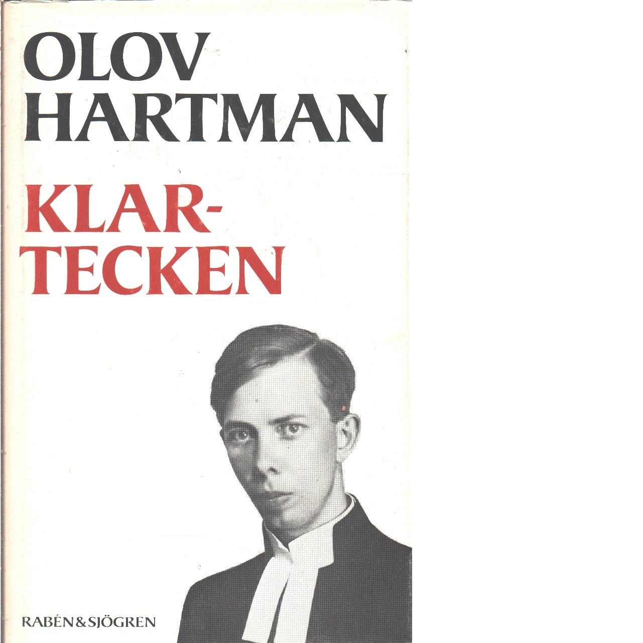 Klartecken  - Hartman, Olov