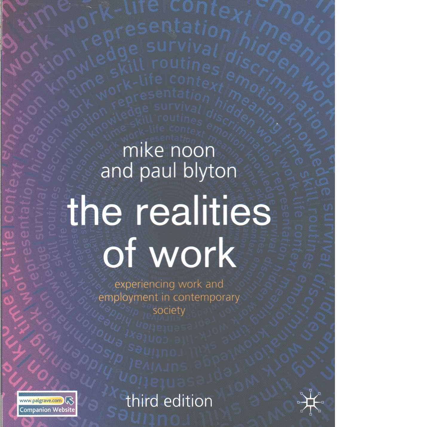 The realities of work : experiencing work and employment in contemporary society  - Noon, Mike  and Blyton, Paul