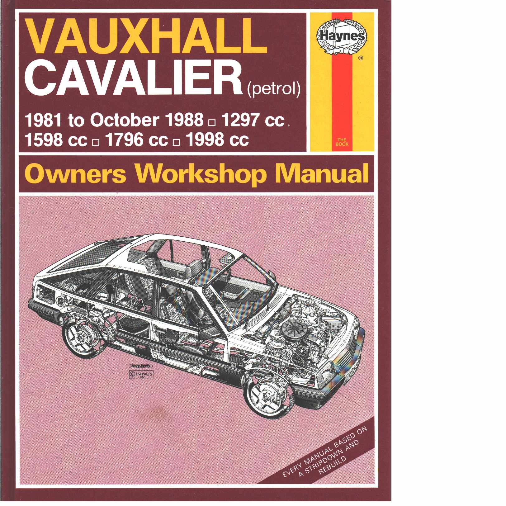 Vauxhall Cavalier 1981-88 Owner's Workshop Manual -  Coomber, Ian