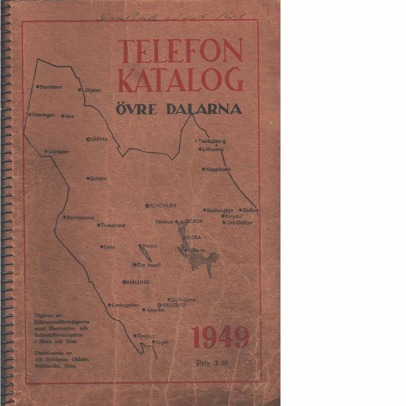 Telefonkatalog övre Dalarna  - Red.