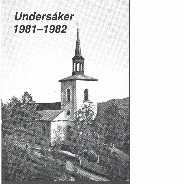 Undersåker  1981-1982 - Red.