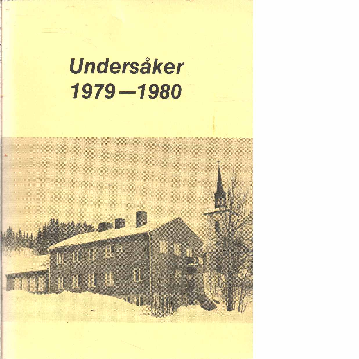 Undersåker 1979-1980 - Red.