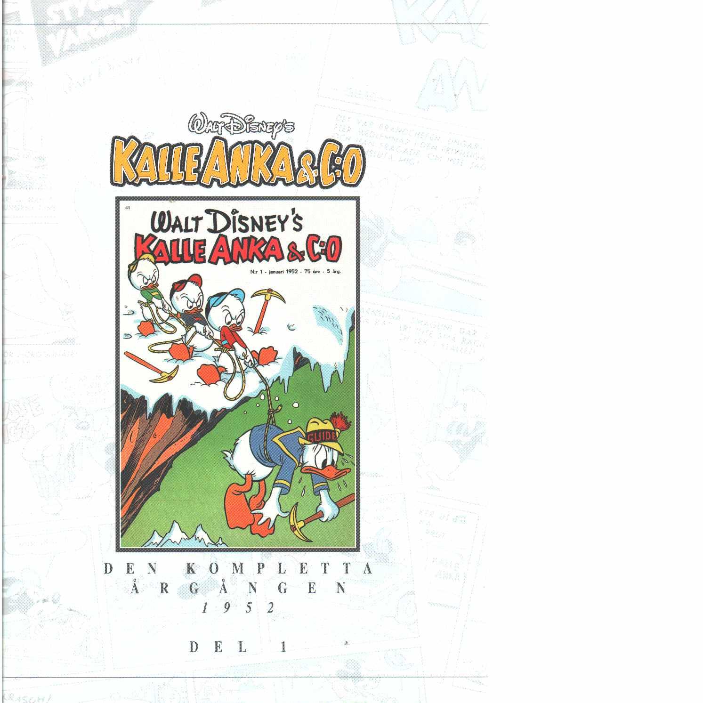 Kalle Anka & C:o. Den kompletta årgången 1952. D. 1 - Walt Disney Company