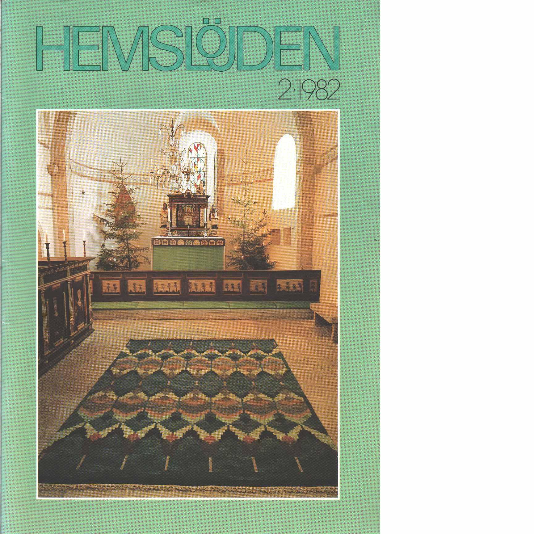 Hemslöjden 2-1982 - Red.