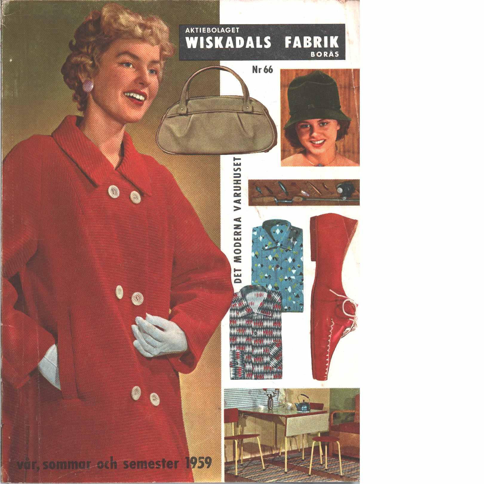 Wiskadals fabrik katalog - Red.