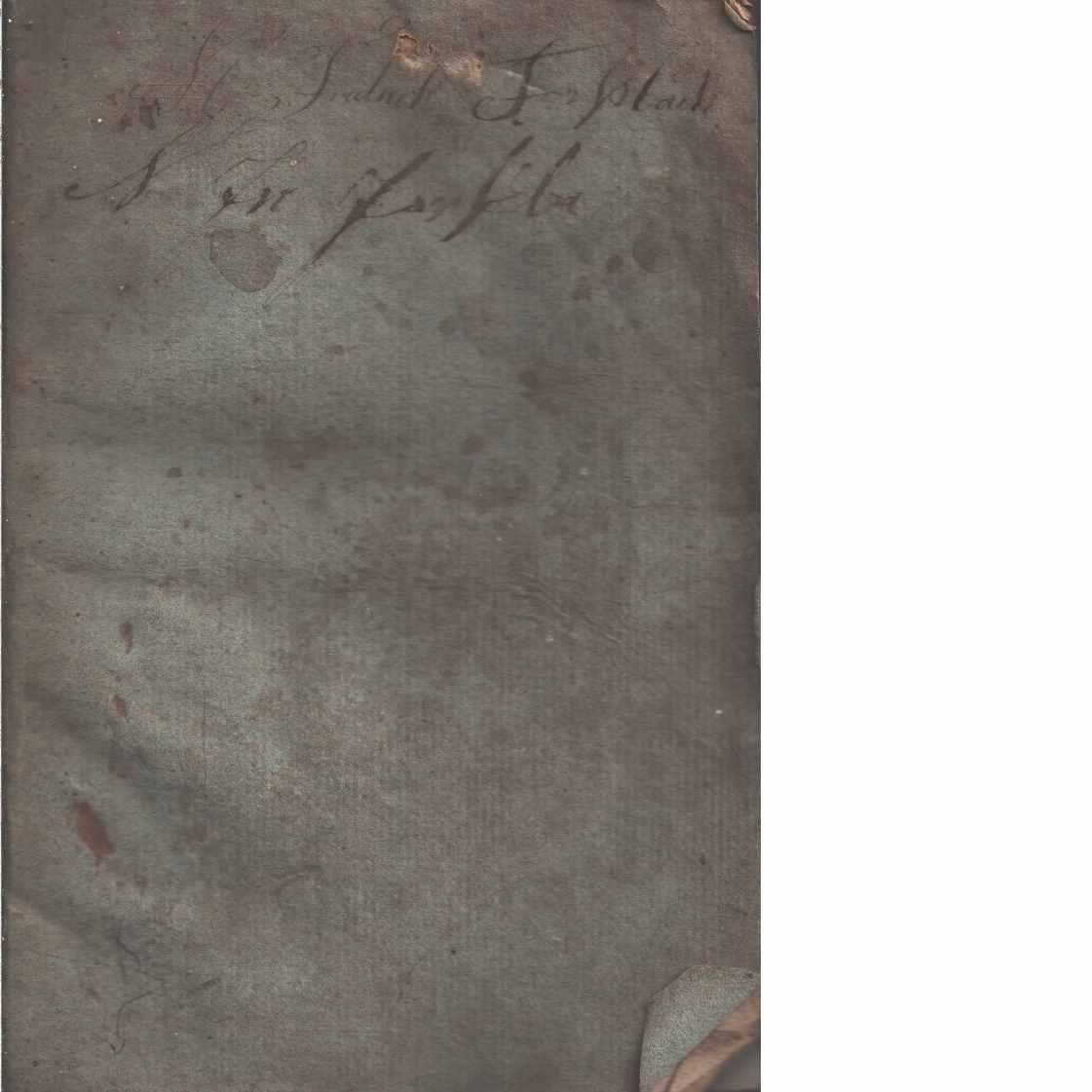 Yttrande om lerhusbyggnader  - Lengblom, Chr.