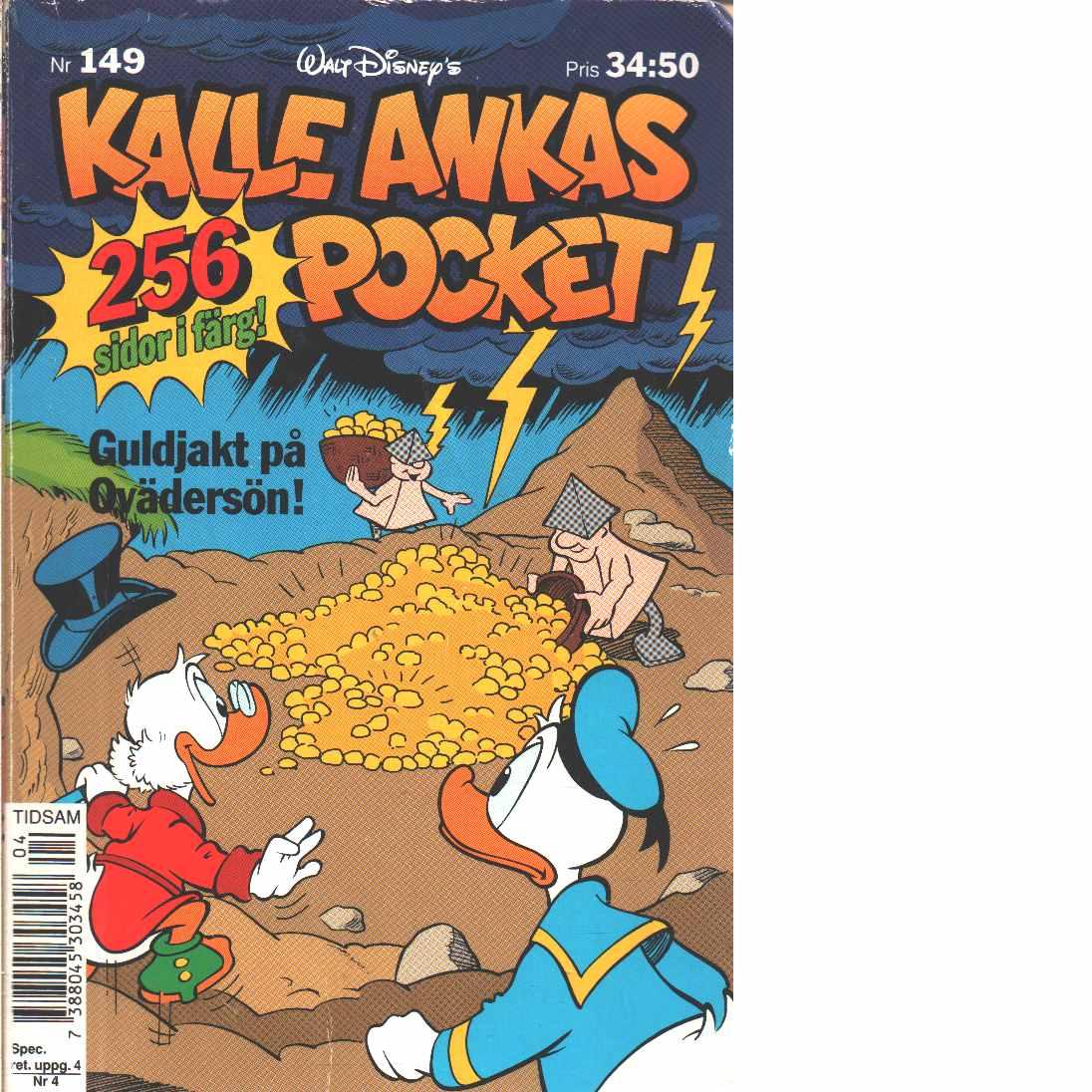 Kalle Anka Nr 149 Guldjakt på Ovärdersön  - Red, Disneys, Walt