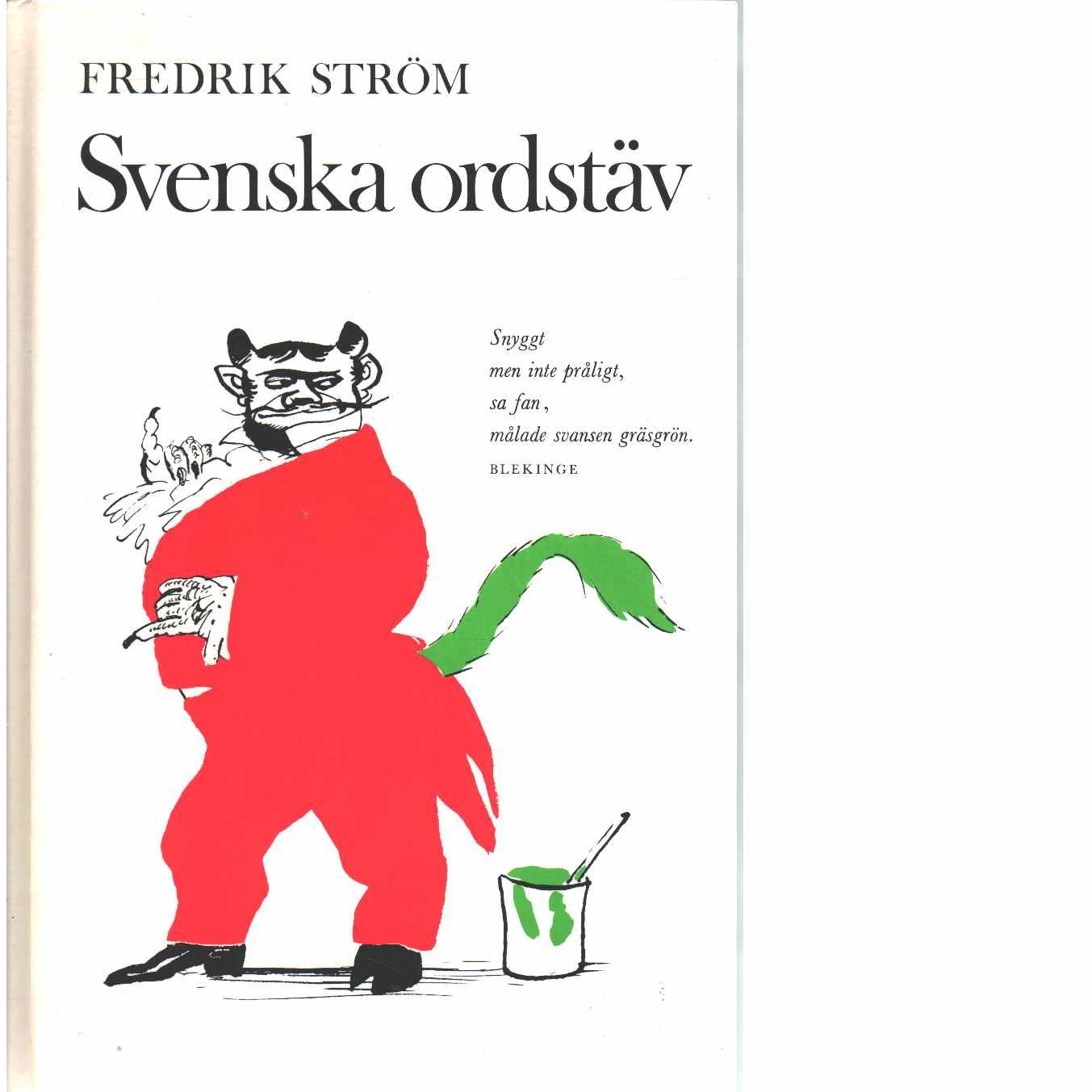 Svenska ordstäv - Ström, Fredrik