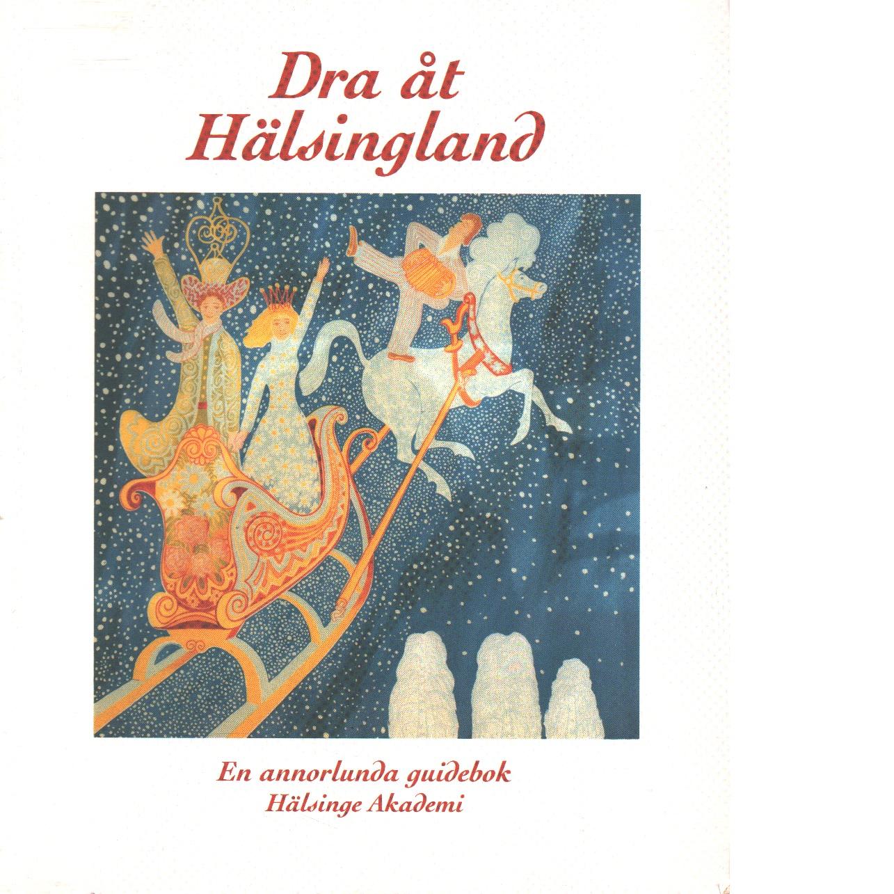 Dra åt Hälsingland : vägen till våra vattenhål, hemliga hus, smultronställen och andra populära platser : annorlunda guidebok - Red. Hälsinge akademi
