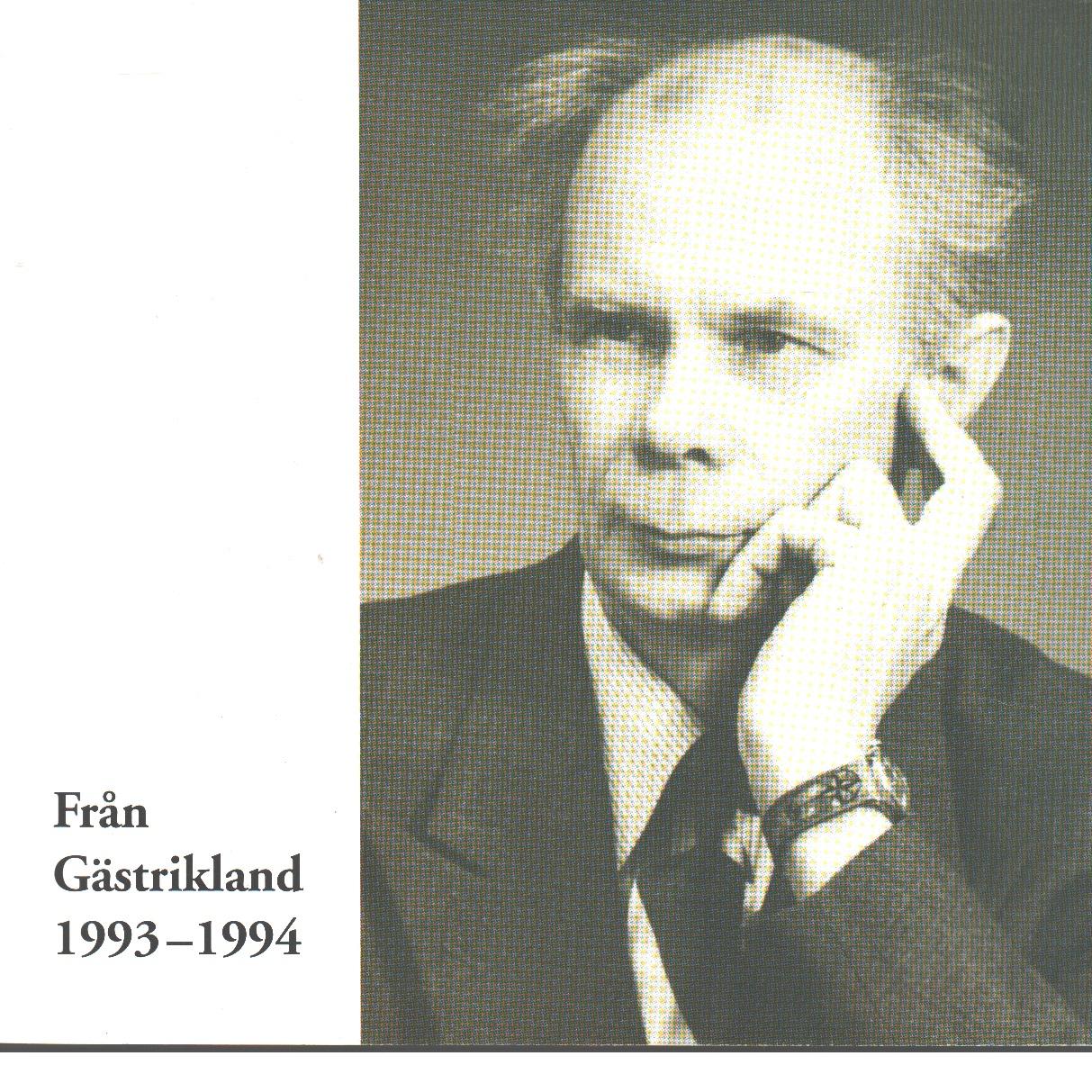 Från Gästrikland 1993-1994 - Gästriklands kulturhistoriska förening