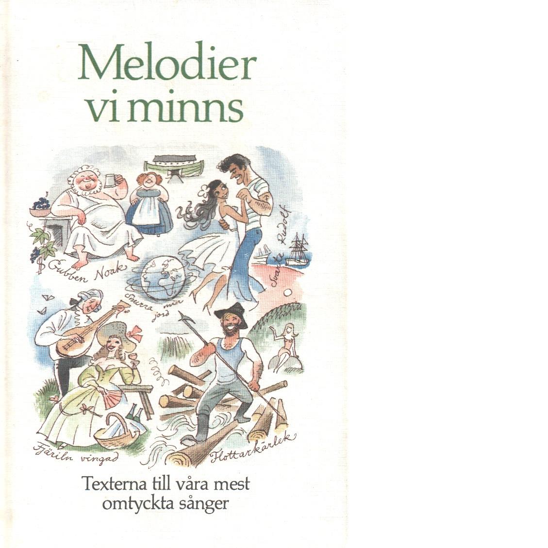 Melodier vi minns : texterna till våra mest omtyckta sånger - Red.