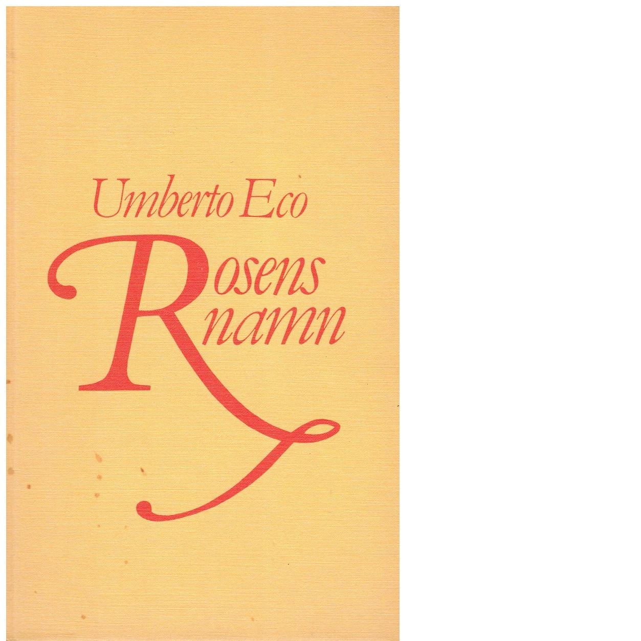 Rosens namn - Eco, Umberto