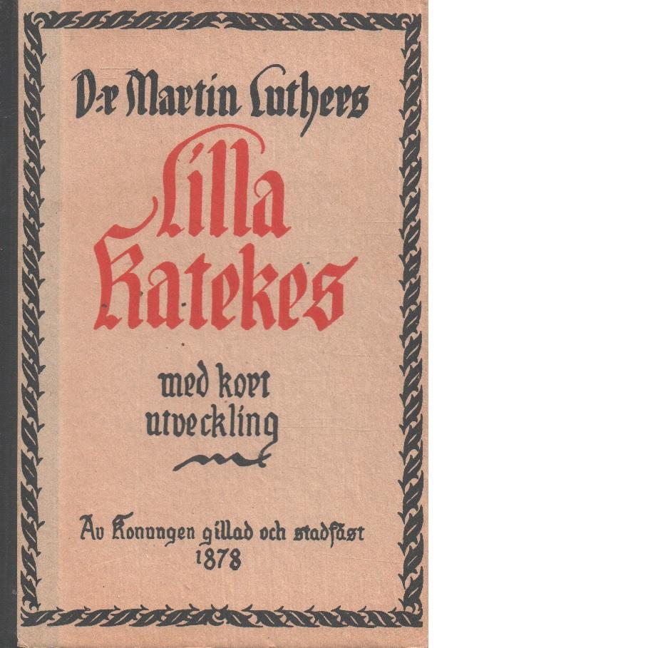 D:r Martin Luthers Lilla katekes : med kort utveckling : av Kungl. Maj:t gillad och stadfäst den 11 okt. 1878 - Luther, Martin