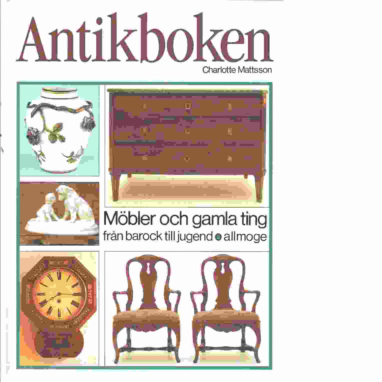 Antikboken - Mattsson,  Charlotte