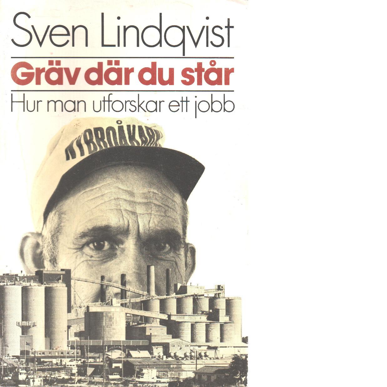Gräv där du står : hur man utforskar ett jobb - Lindqvist, Sven