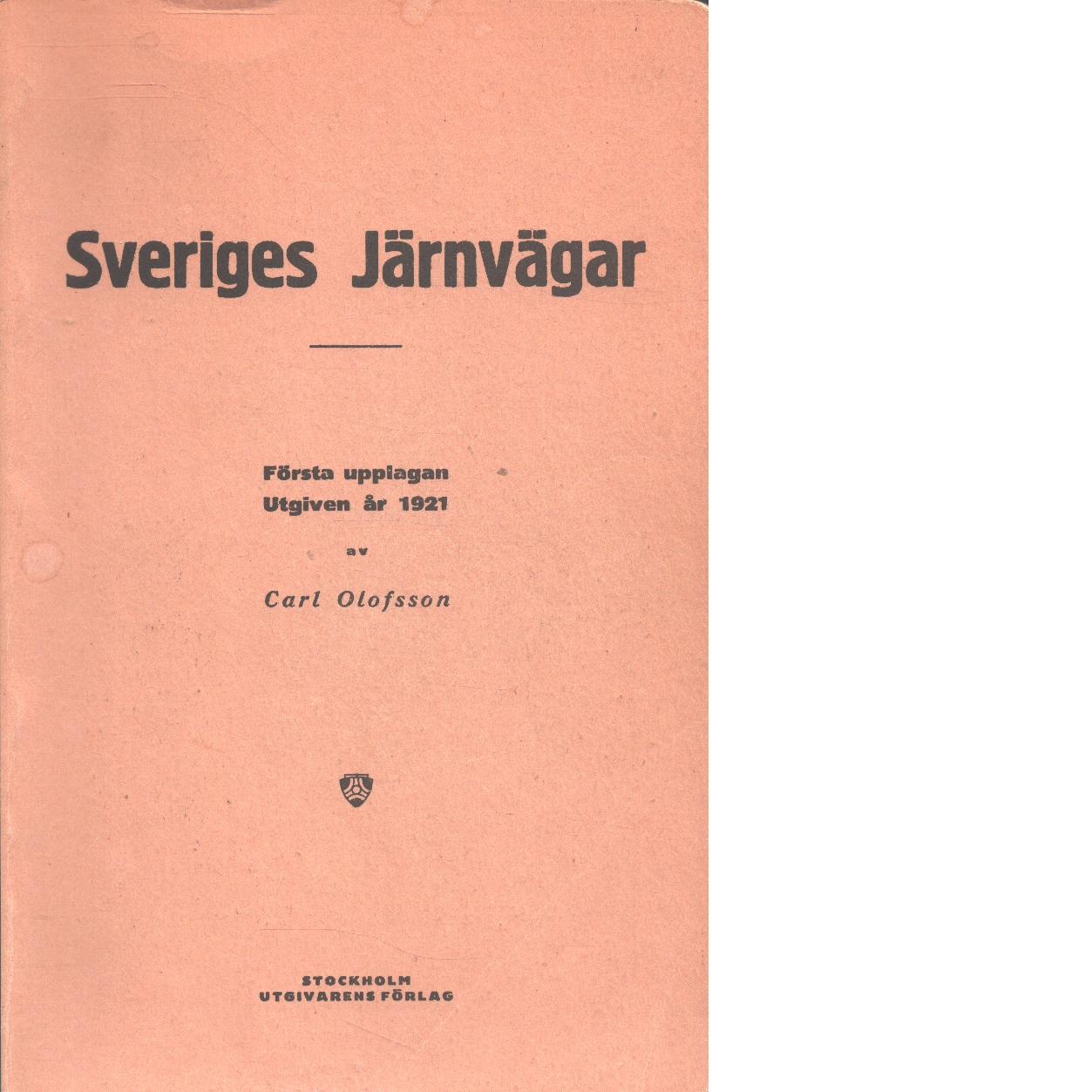 Sveriges järnvägar - Olofsson, Carl