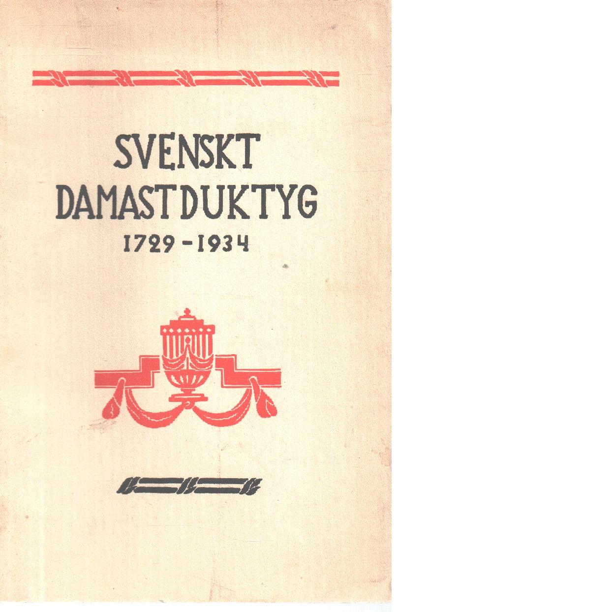 Svenskt  damastduktyg - Thorman, Elisabeth