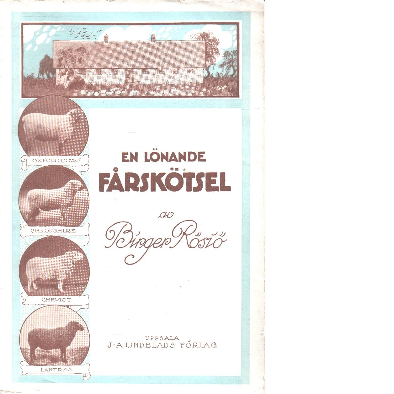 En lönande fårskötsel - Rösiö Birger