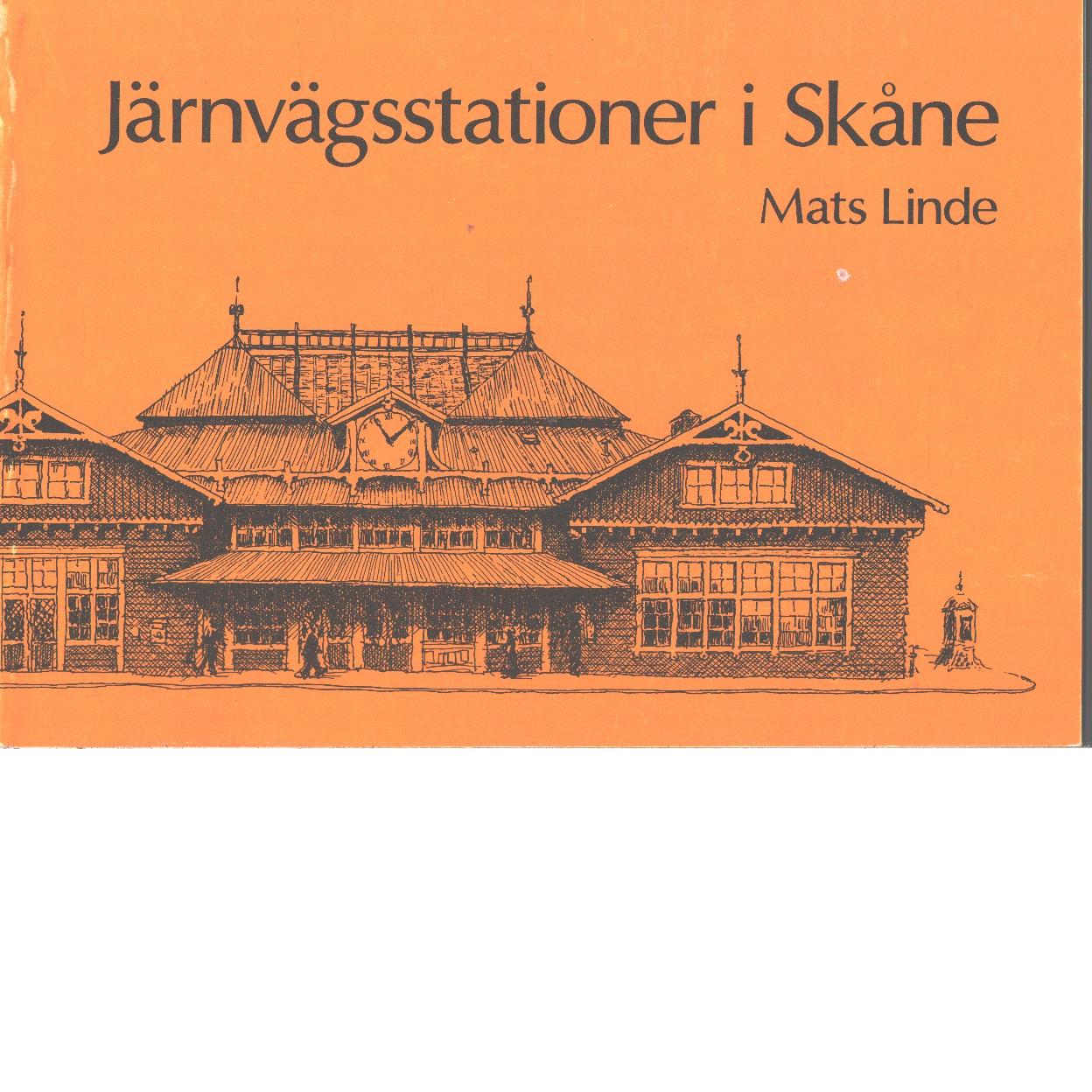 Järnvägsstationer i Skåne - Linde, Mats