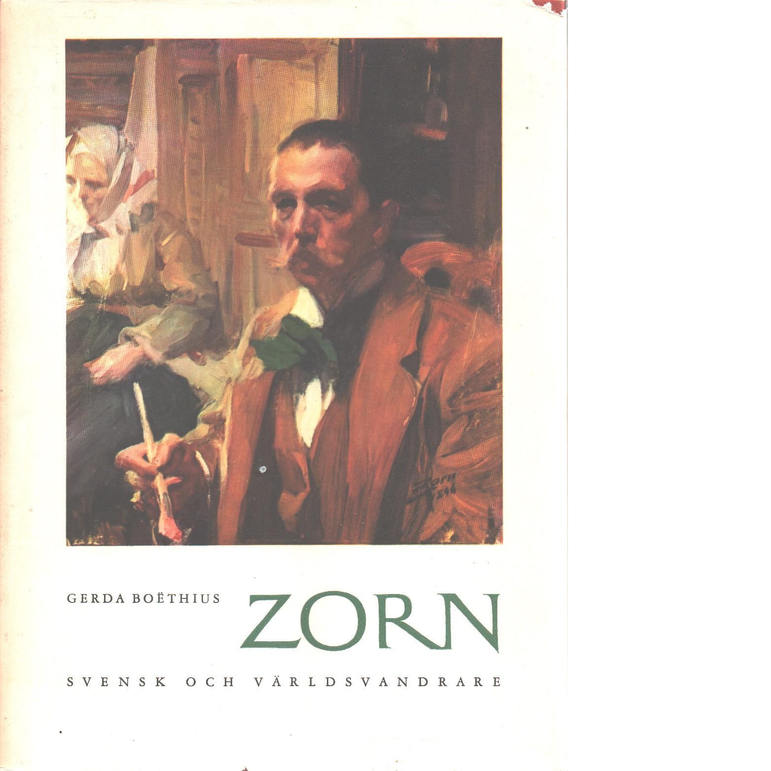 Zorn : svensk och världsvandrare - Boëthius, Gerda