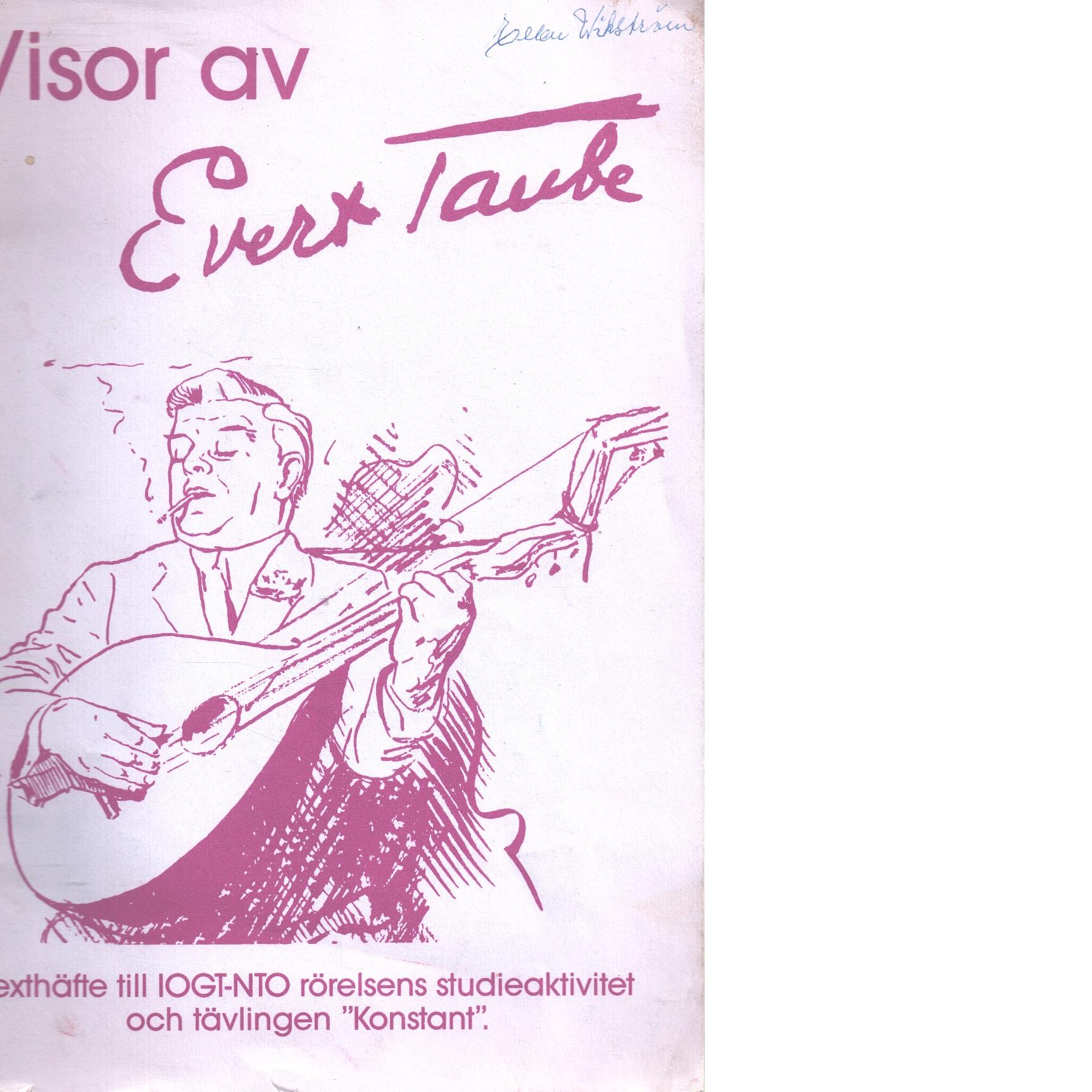 Visor av Evert Taube - Taube ,Evert