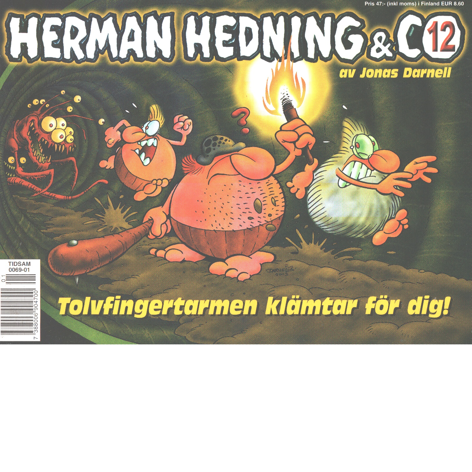 """Herman Hedning & Co. 12, """"Tolvfingertarmen klämtar för dig - Darnell, Jonas"""