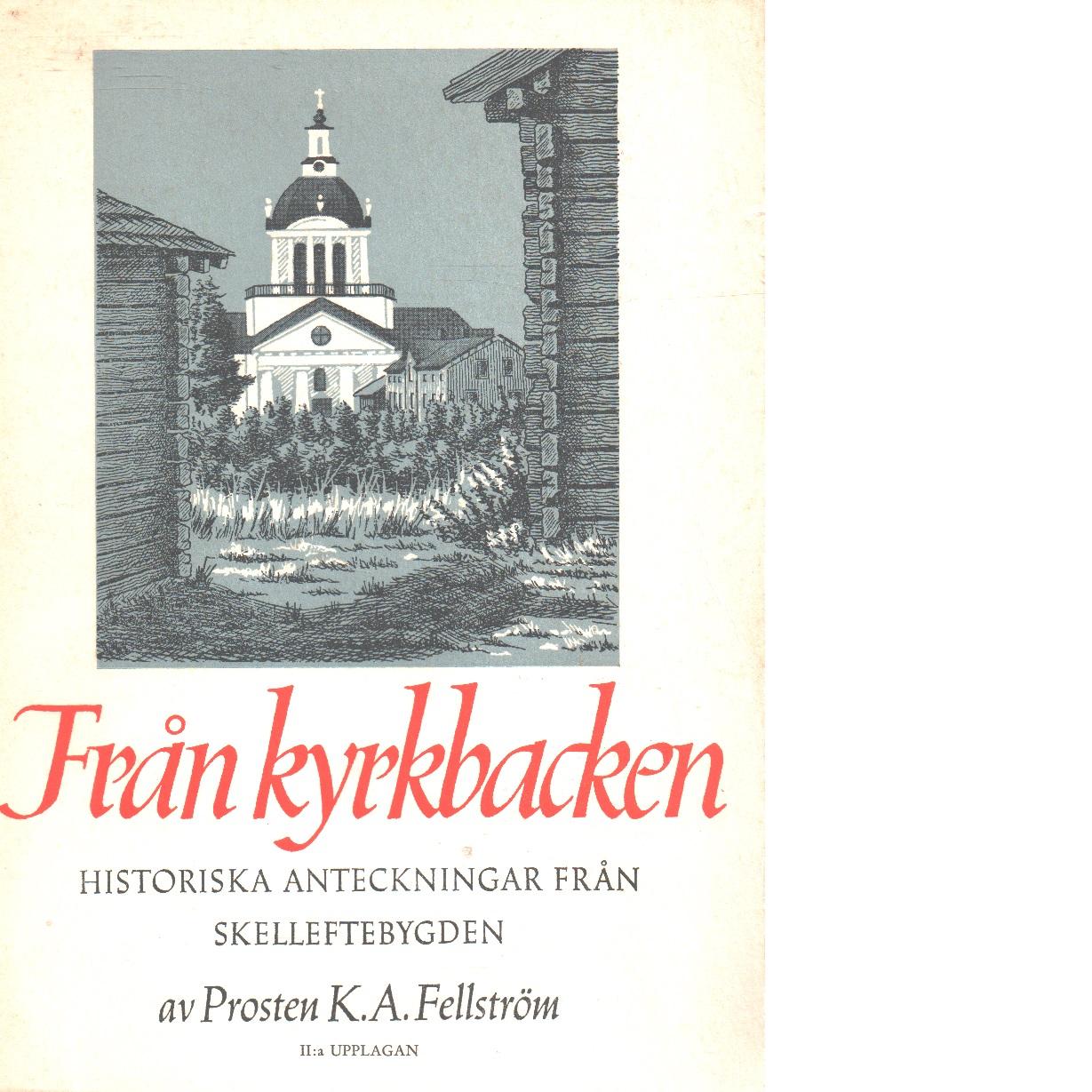 Från kyrkbacken : historiska anteckningar från Skelleftebygden - Fellström, Kristian August