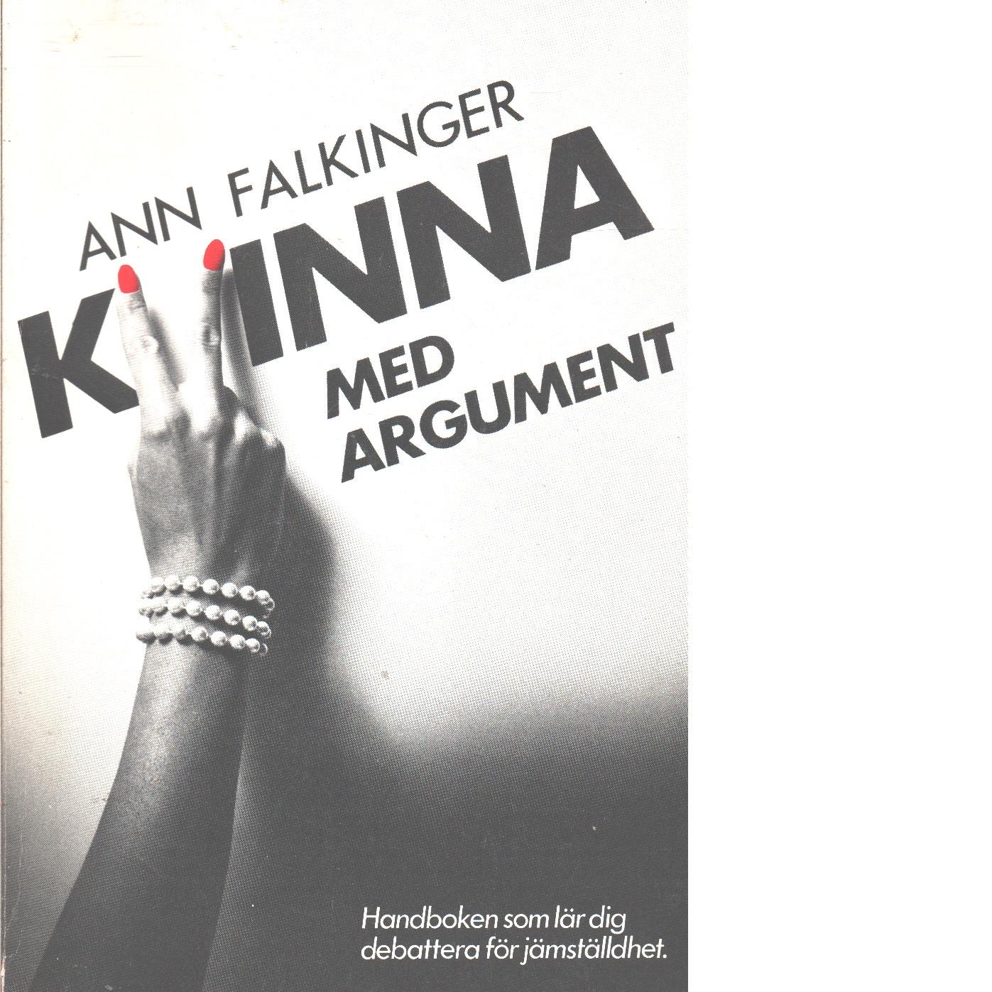 Kvinna med argument - Falkinger, Ann