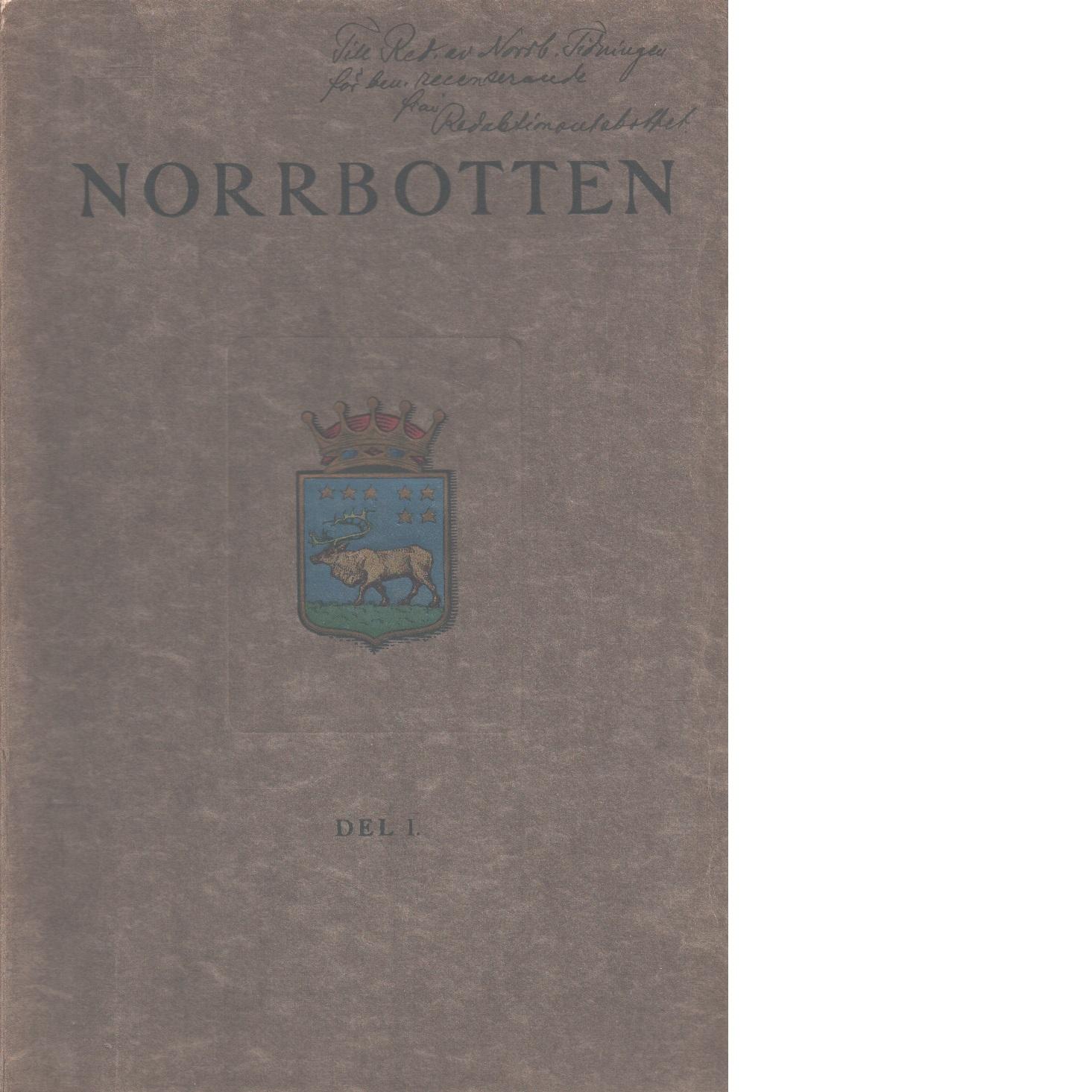 Norrbotten av skilda författare D. 1 + 2 - Red. Norrbottens Läns Jubileumsutställnings Bestyrelse