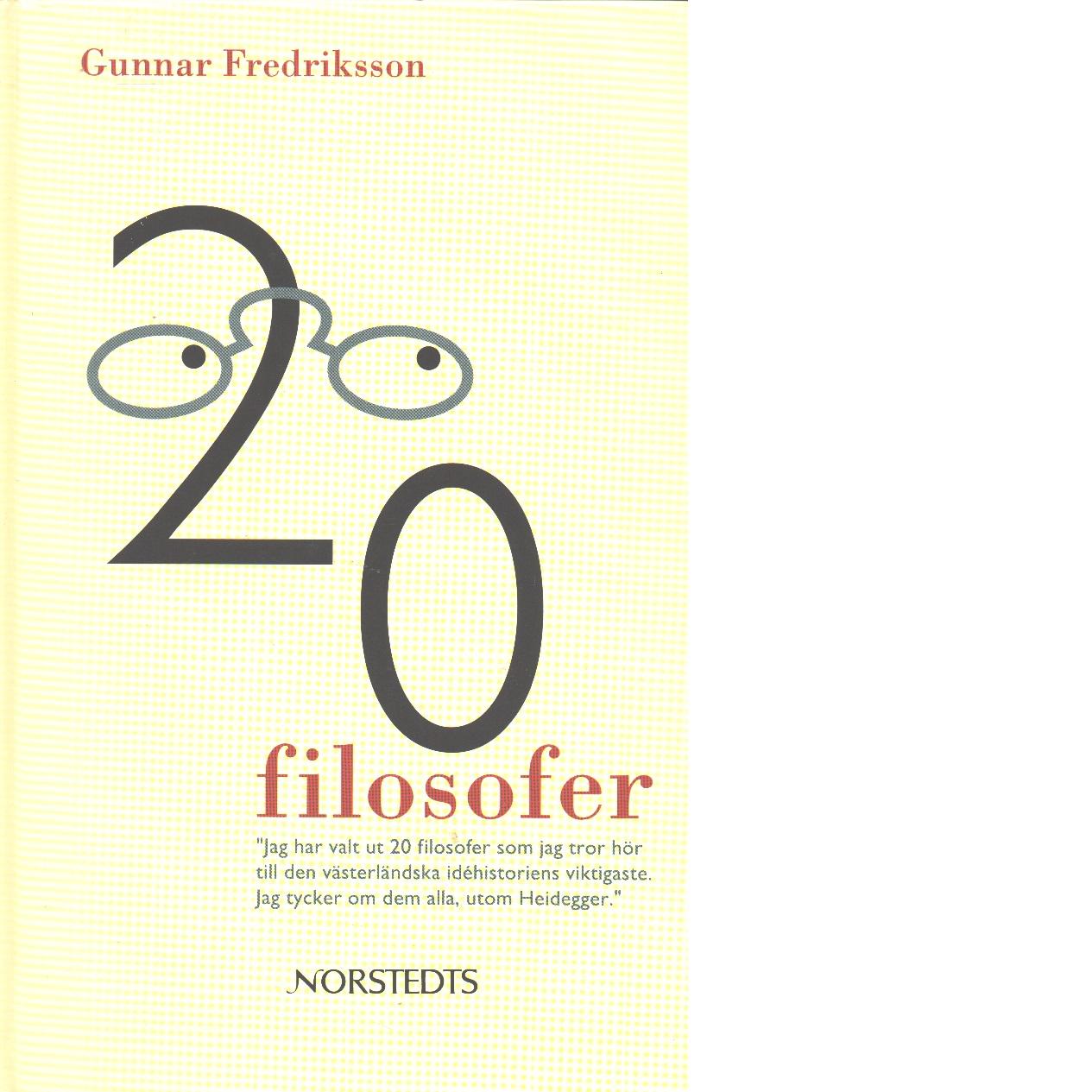 20 filosofer - Fredriksson, Gunnar