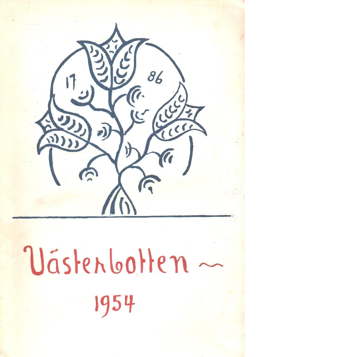Västerbotten 1954 : Västerbottens läns hembygdsförenings årsbok - Red.
